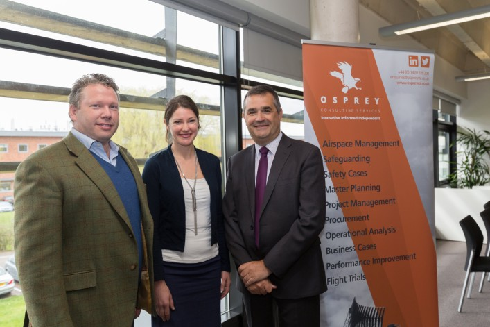 Osprey welcomes local MP Karl McCartney to its Lincoln office